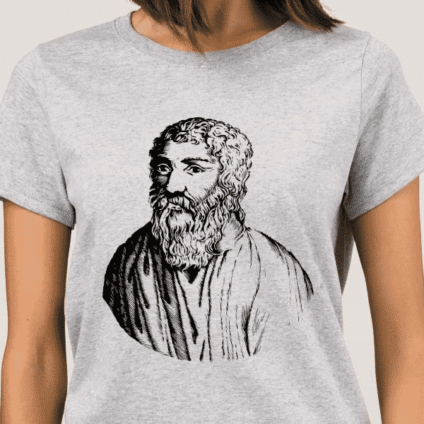 Epicurus Portrait - Philosophy Shirt