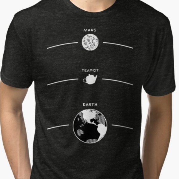 Russell's Teapot Celestial Diagram - Philosophy Shirt