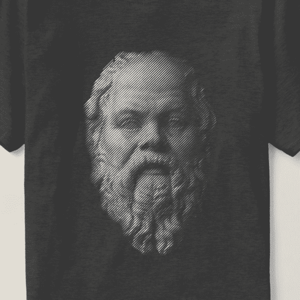 Socrates Portrait - Philosophy Shirt